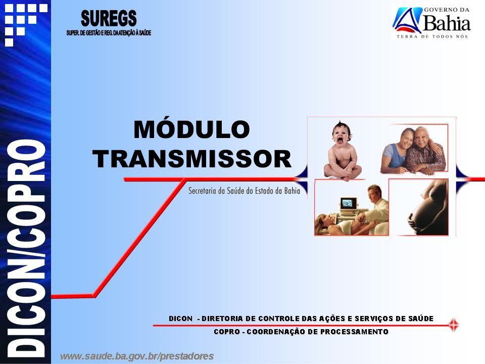 Instalação do Transmissor Após a instalação, aparecerá a tela acima.
