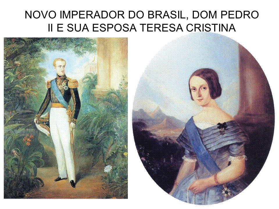 NOVO IMPERADOR DO BRASIL, DOM PEDRO II E SUA ESPOSA TERESA CRISTINA