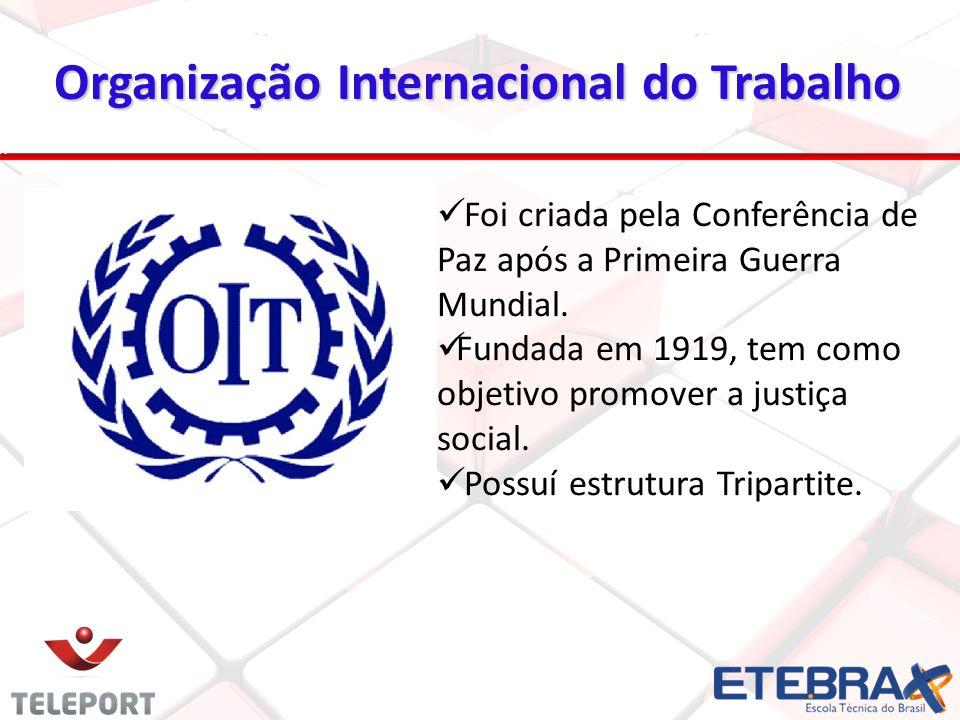 Foi criada pela Conferência de Paz após a Primeira Guerra Mundial. Fundada em 1919, tem como objetivo promover a justiça social. Possuí estrutura Trip
