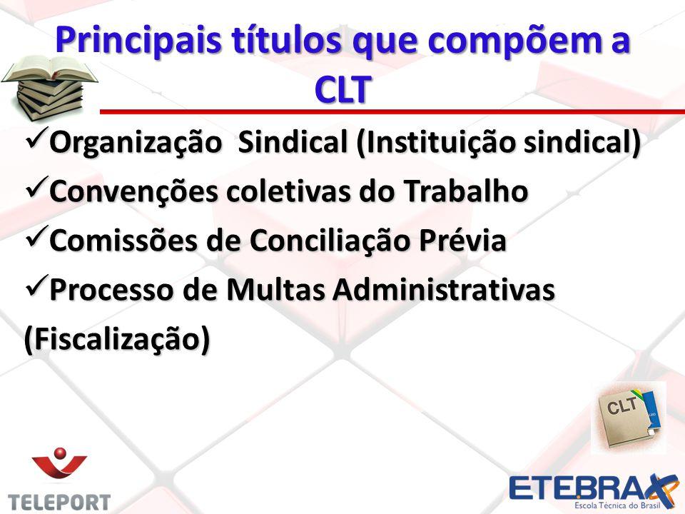 Organização Sindical (Instituição sindical) Organização Sindical (Instituição sindical) Convenções coletivas do Trabalho Convenções coletivas do Traba