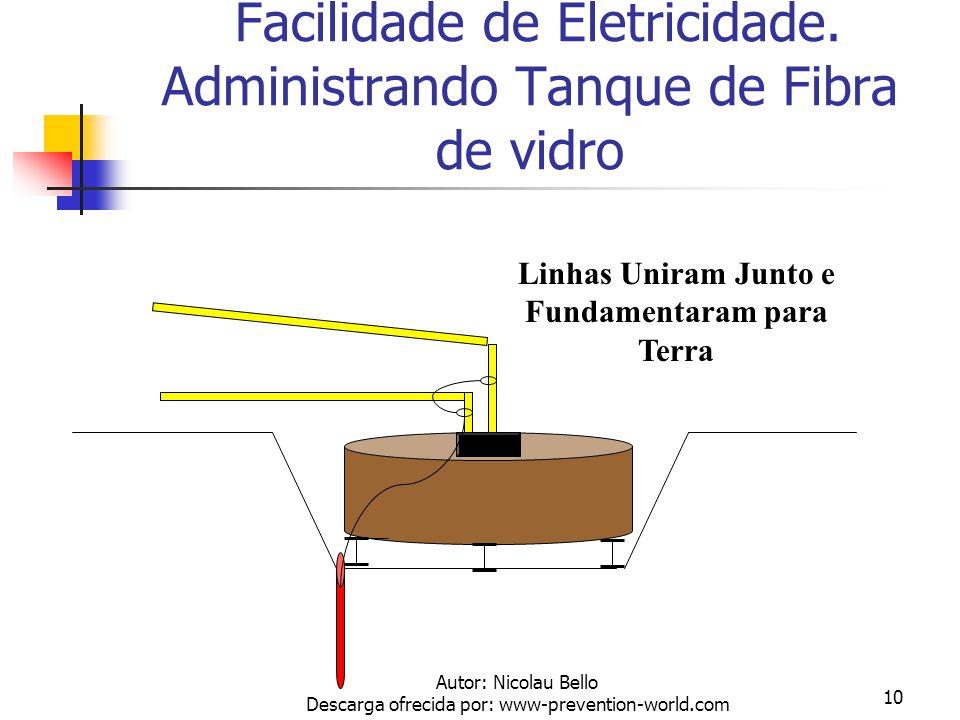 Autor: Nicolau Bello Descarga ofrecida por: www-prevention-world.com 9 Administrando Eletricidade Estática - Tanque de Aço Linhas e Tanque Uniram Junt