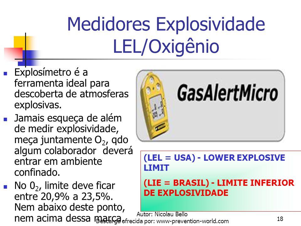 Autor: Nicolau Bello Descarga ofrecida por: www-prevention-world.com 17 Otimizando Serviços Em ambientes confinados ou em áreas com risco, procure a S