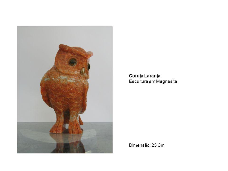 Urso Pardo Roxo. Escultura em Magnesita Dimensão: 20 Cm