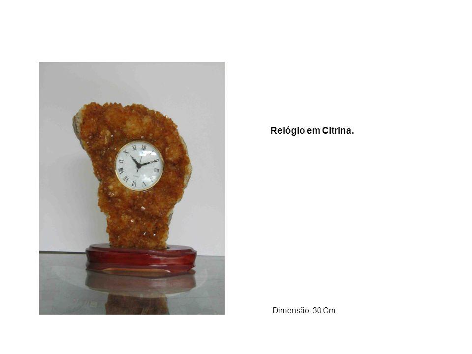 Relógio mapa do Brasil. Escultura em Ágata. Obs: Outros formatos disponíveis
