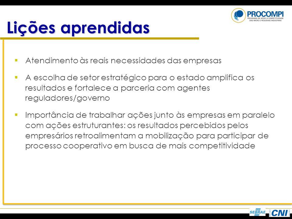 Atendimento às reais necessidades das empresas A escolha de setor estratégico para o estado amplifica os resultados e fortalece a parceria com agentes