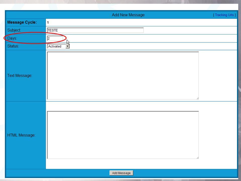 Ação 2º Passo configurando Seu Próprio Autoresponder