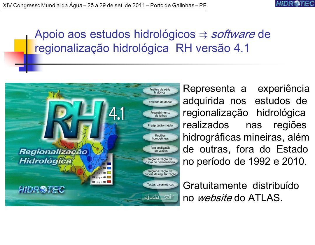 Representa a experiência adquirida nos estudos de regionalização hidrológica realizados nas regiões hidrográficas mineiras, além de outras, fora do Estado no período de 1992 e 2010.