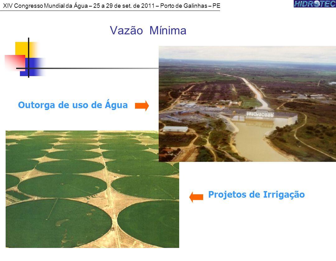 Vazão Mínima Outorga de uso de Água Projetos de Irrigação XIV Congresso Mundial da Água – 25 a 29 de set.
