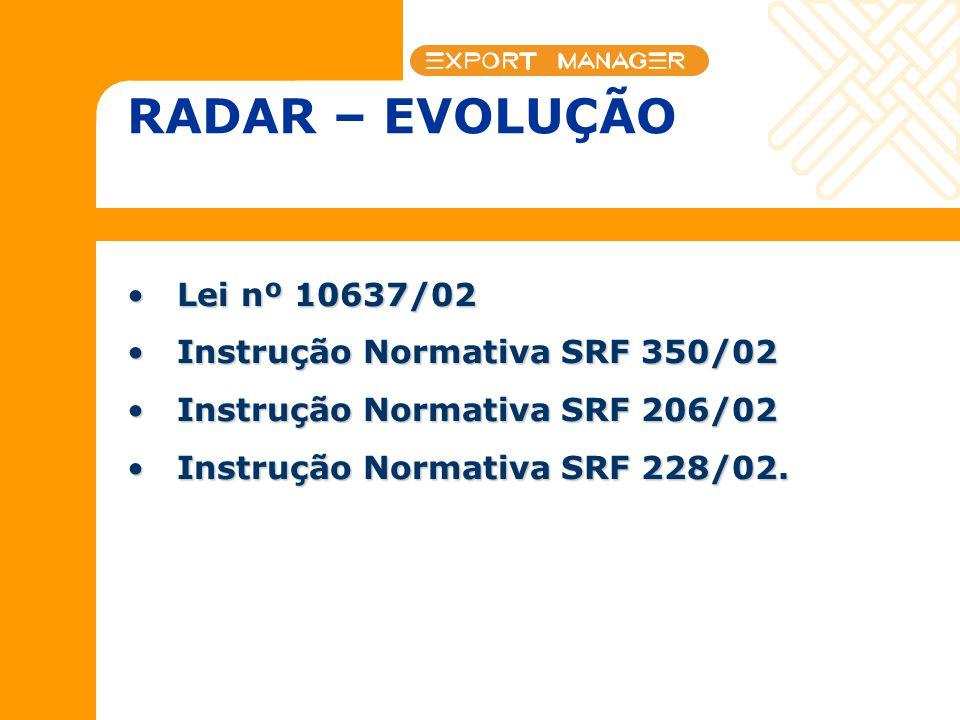 Lei nº 10637/02Lei nº 10637/02 Instrução Normativa SRF 350/02Instrução Normativa SRF 350/02 Instrução Normativa SRF 206/02Instrução Normativa SRF 206/