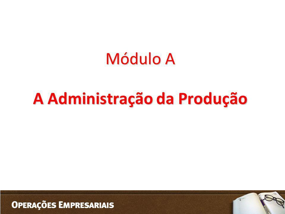 Módulo A A Administração da Produção