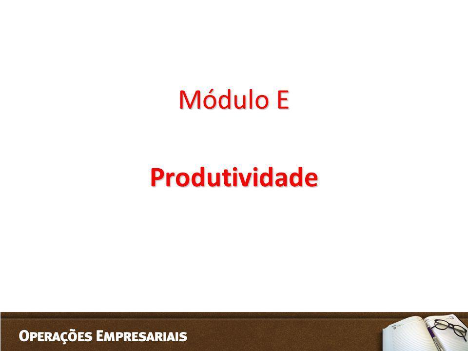 Módulo E Produtividade