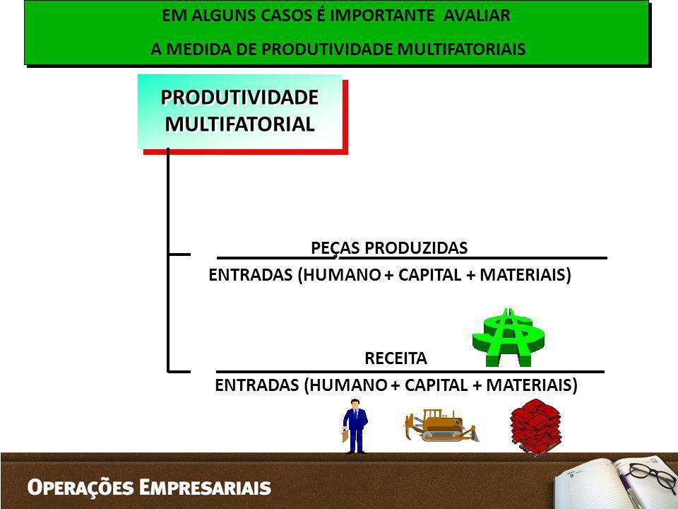 EM ALGUNS CASOS É IMPORTANTE AVALIAR A MEDIDA DE PRODUTIVIDADE MULTIFATORIAIS EM ALGUNS CASOS É IMPORTANTE AVALIAR A MEDIDA DE PRODUTIVIDADE MULTIFATO
