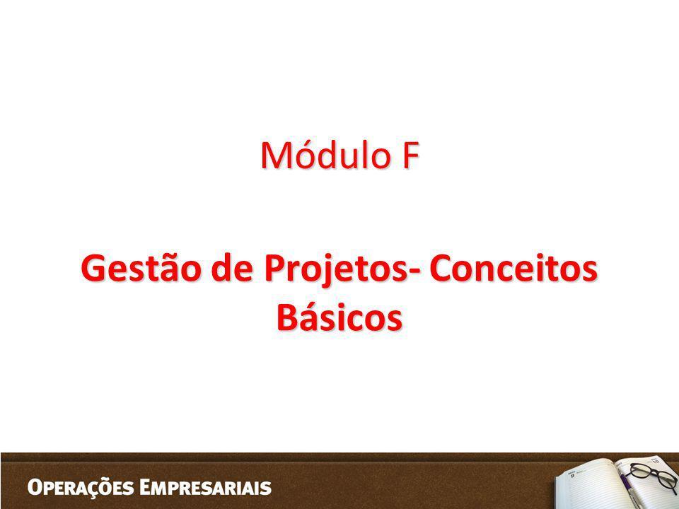 Módulo F Gestão de Projetos- Conceitos Básicos
