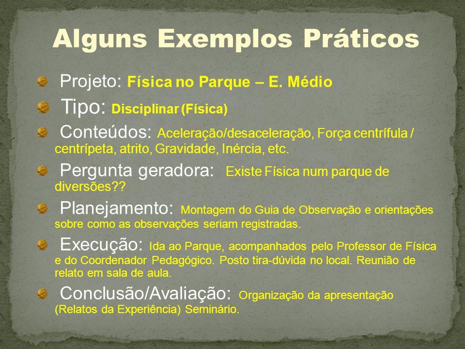 Projeto: Física no Parque – E.