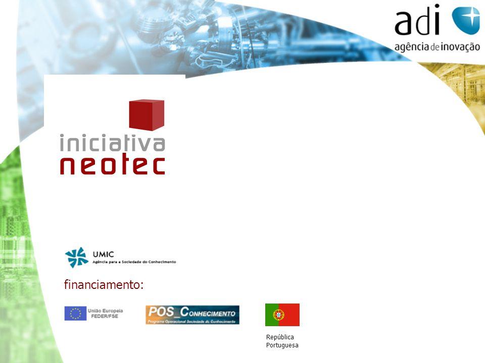 financiamento: República Portuguesa