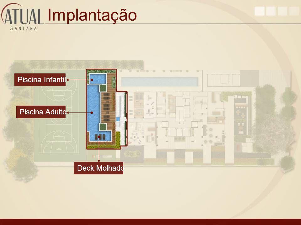 Implantação Piscina Adulto Piscina Infantil Deck Molhado