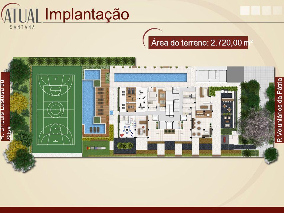 Implantação R. Dr.Luis Lustosa da Silva R Voluntários da Pátria Área do terreno: 2.720,00 m²