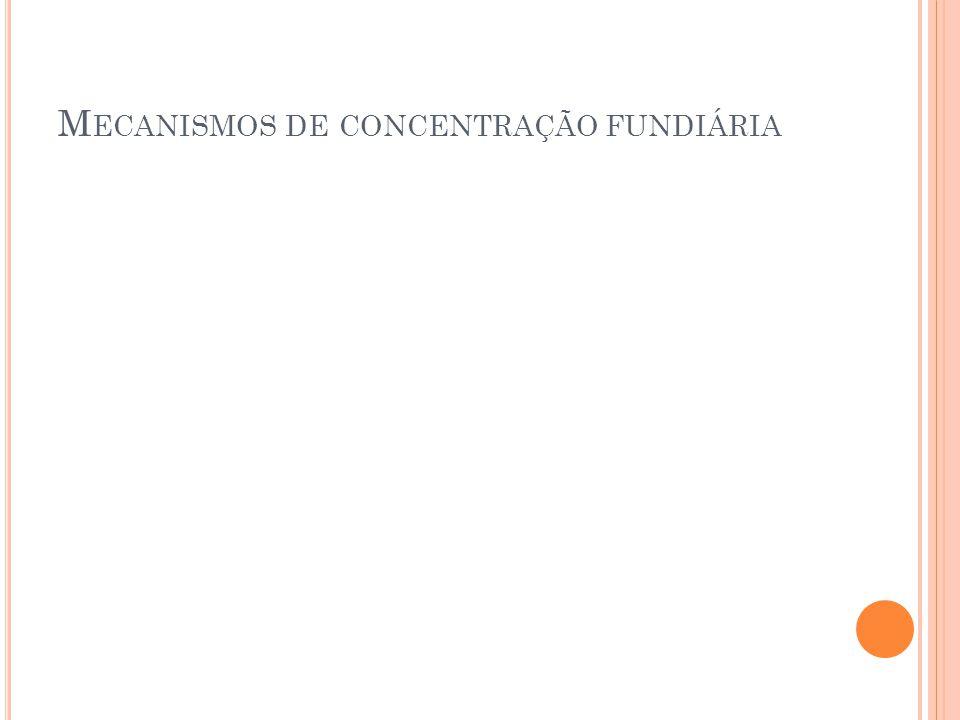 M ECANISMOS DE CONCENTRAÇÃO FUNDIÁRIA