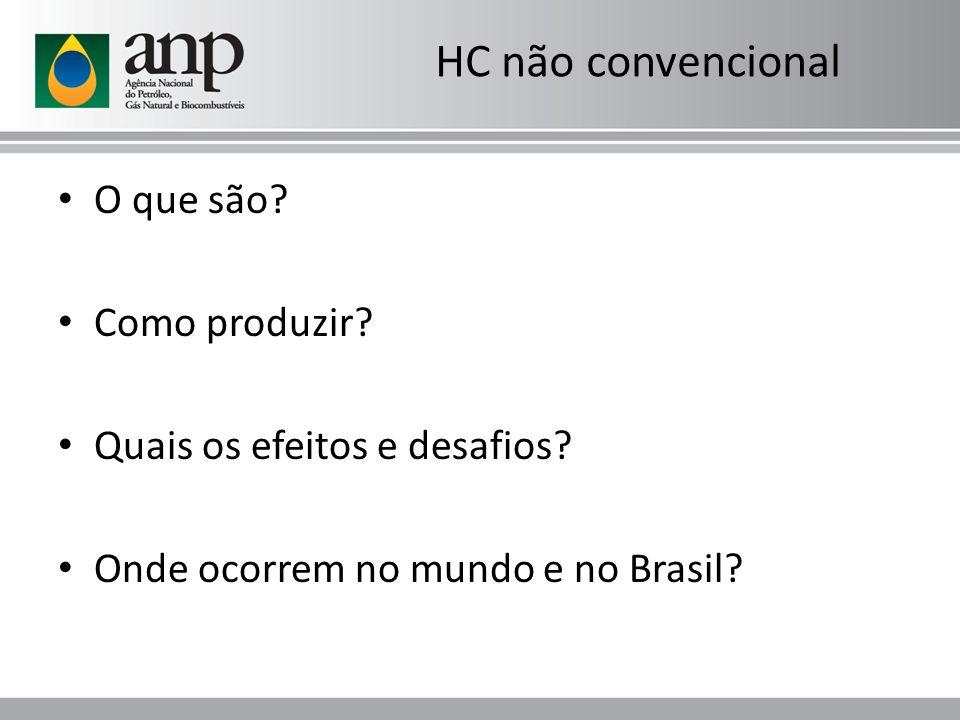 HC não convencional O que são? Como produzir? Quais os efeitos e desafios? Onde ocorrem no mundo e no Brasil?