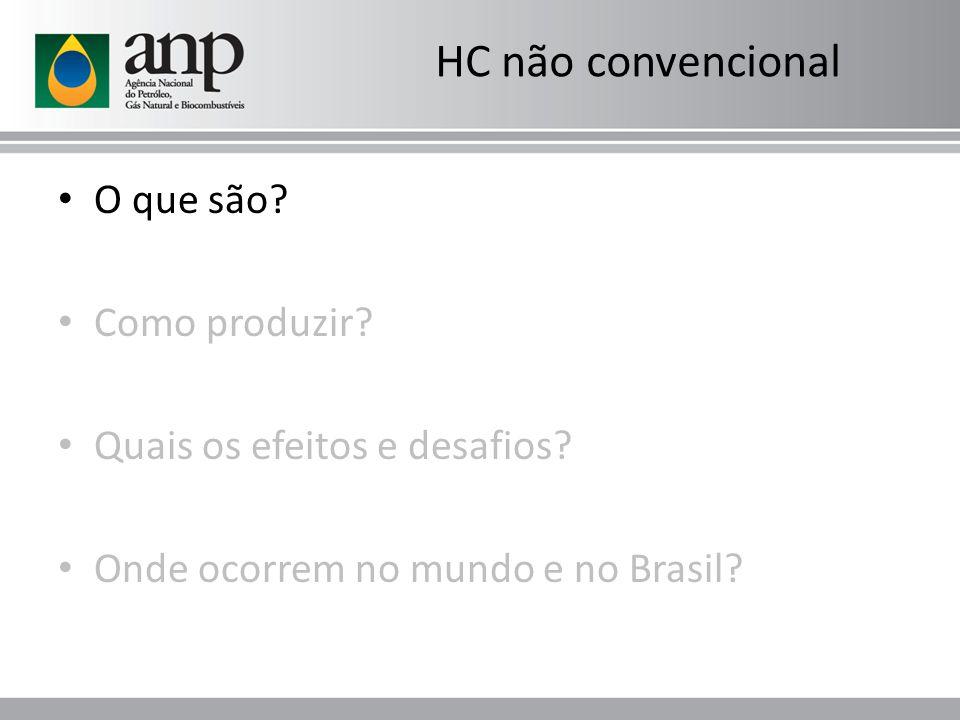 O que são? Como produzir? Quais os efeitos e desafios? Onde ocorrem no mundo e no Brasil? HC não convencional