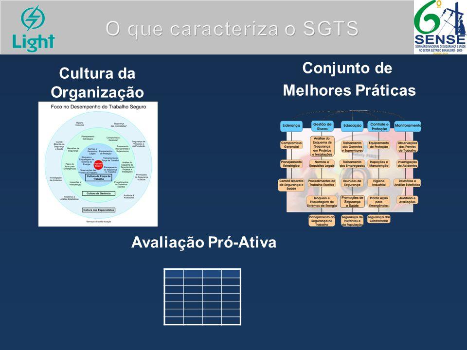 Cultura da Organização Conjunto de Melhores Práticas Avaliação Pró-Ativa