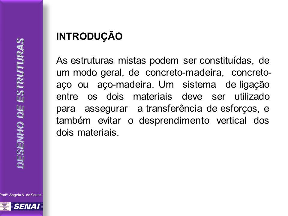 INTRODUÇÃO As estruturas mistas podem ser constituídas, de um modo geral, de concreto-madeira, concreto- aço ou aço-madeira. Um sistema de ligação ent