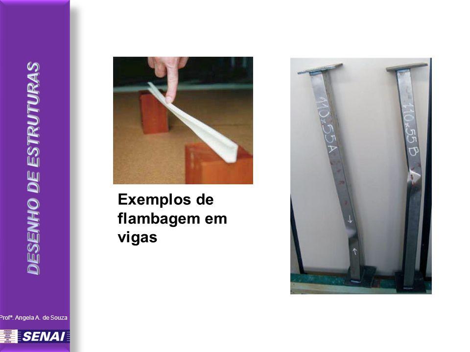 Exemplos de flambagem em vigas Profª. Angela A. de Souza