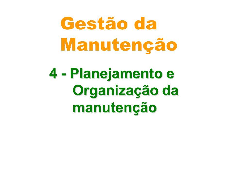 Gestão da Manutenção 4 - Planejamento e Organização da manutenção
