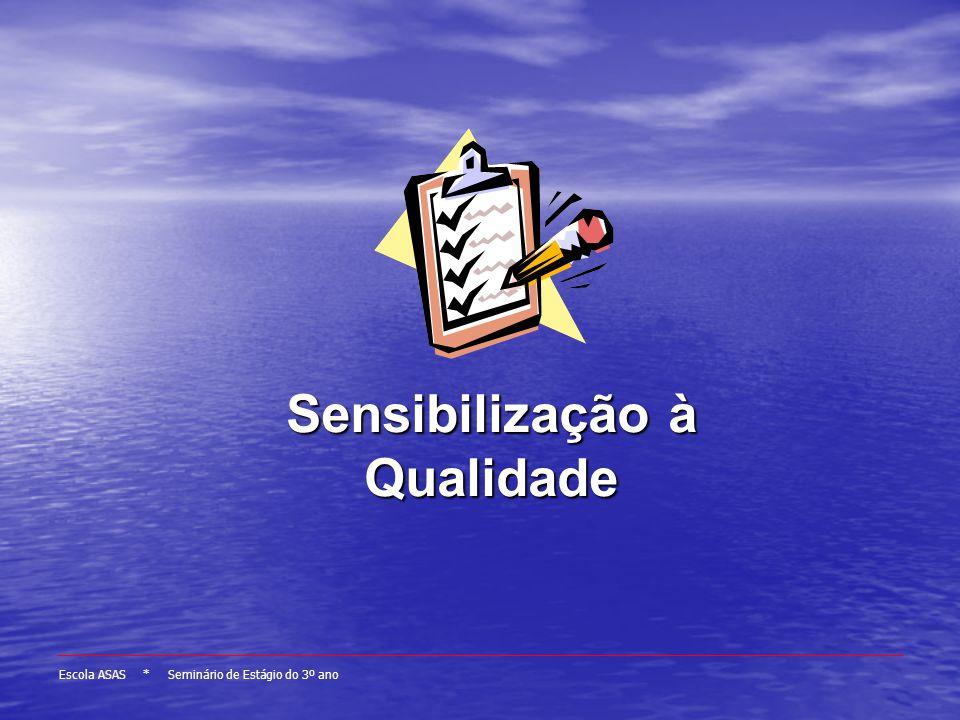 Escola ASAS * Seminário de Estágio do 3º ano Sensibilização à Qualidade