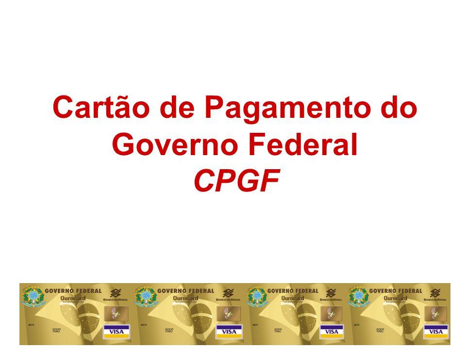 Cartão de Pagamento do Governo Federal CPGF