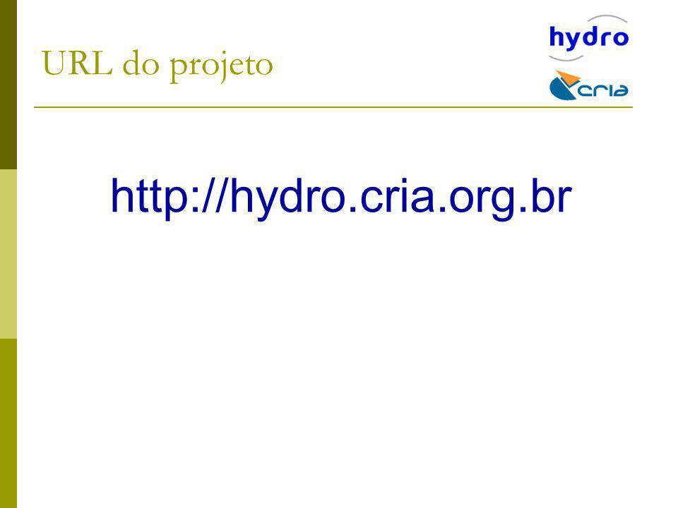 URL do projeto http://hydro.cria.org.br