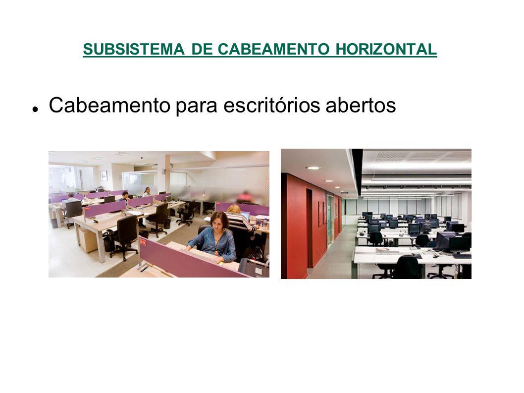 SUBSISTEMA DE CABEAMENTO HORIZONTAL Cabeamento para escritórios abertos