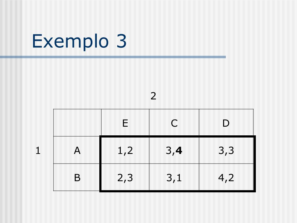 Exemplo 2 2 1 ECD A1,23,23,3 B2,33,14,2