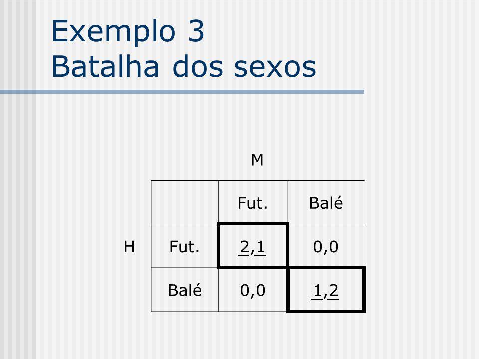 Exemplo 2 Dilema dos prisioneiros 2 1 NCC -1,-1-9,0 C0,-9-6,-6