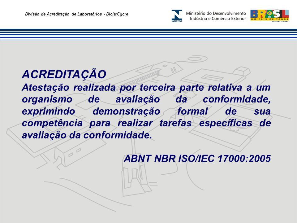 Divisão de Acreditação de Laboratórios - Dicla/Cgcre ACREDITAÇÃO Atestação realizada por terceira parte relativa a um organismo de avaliação da confor