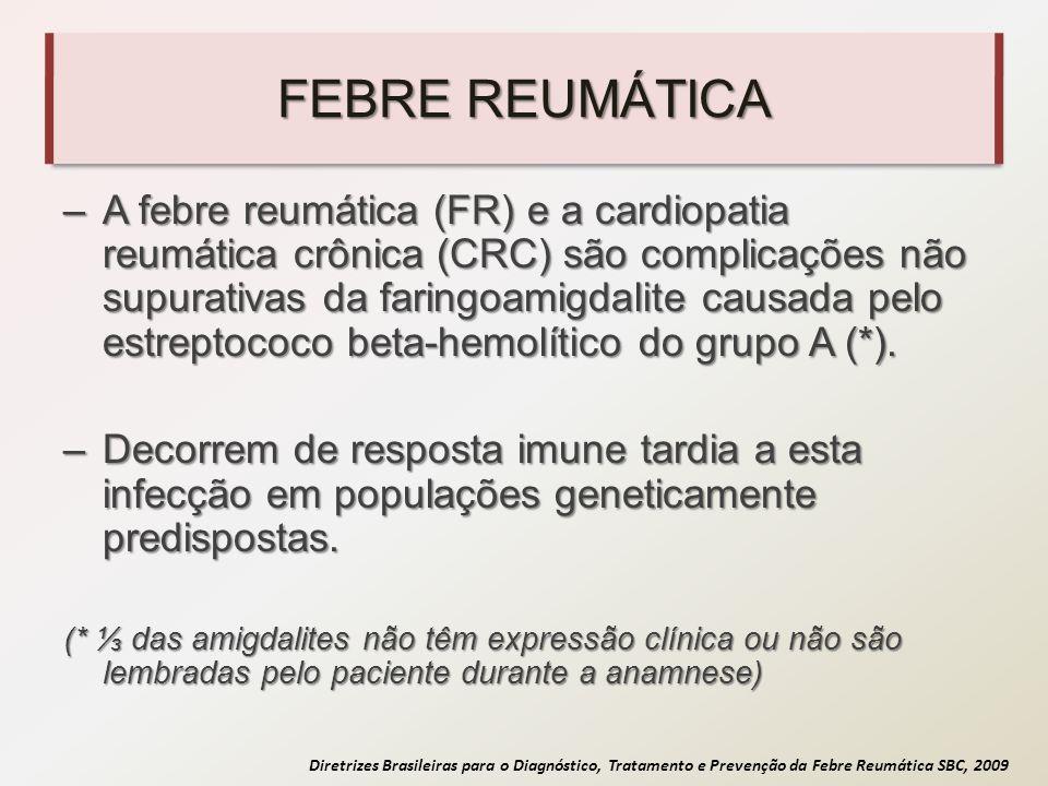 Diretrizes Brasileiras para o Diagnóstico, Tratamento e Prevenção da Febre Reumática SBC, 2009 FEBRE REUMÁTICA –A febre reumática (FR) e a cardiopatia