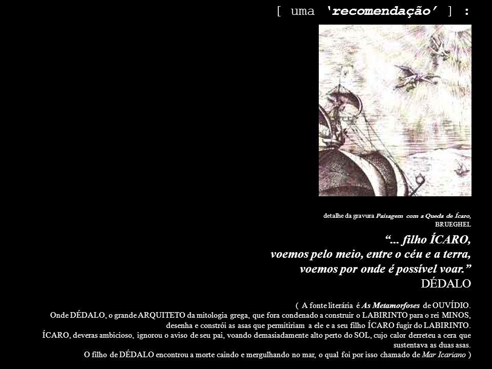 detalhe da gravura Paisagem com a Queda de Ícaro, BRUEGHEL...
