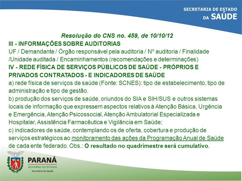 Resolução do CNS no.