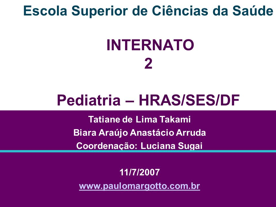 CASO CLÍNICO Enfermaria - ALA A