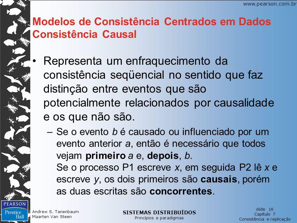 SISTEMAS DISTRIBUÍDOS Princípios e paradigmas slide 16 Capítulo 7 Consistência e replicação www.pearson.com.br Andrew S. Tanenbaum Maarten Van Steen M