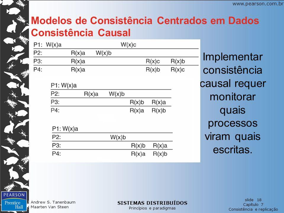 SISTEMAS DISTRIBUÍDOS Princípios e paradigmas slide 18 Capítulo 7 Consistência e replicação www.pearson.com.br Andrew S. Tanenbaum Maarten Van Steen M