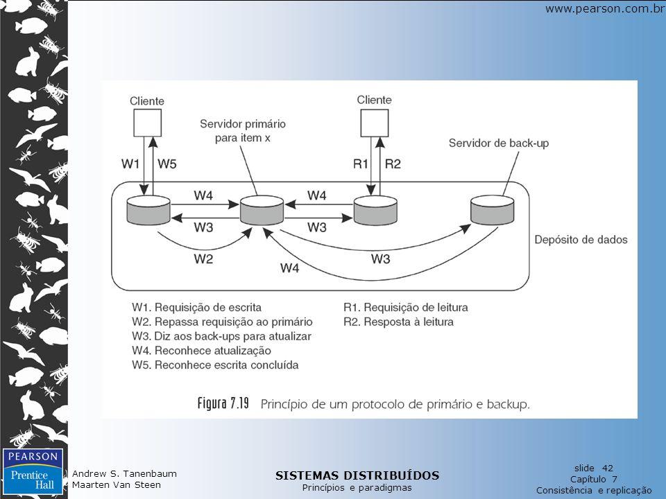 SISTEMAS DISTRIBUÍDOS Princípios e paradigmas slide 42 Capítulo 7 Consistência e replicação www.pearson.com.br Andrew S.