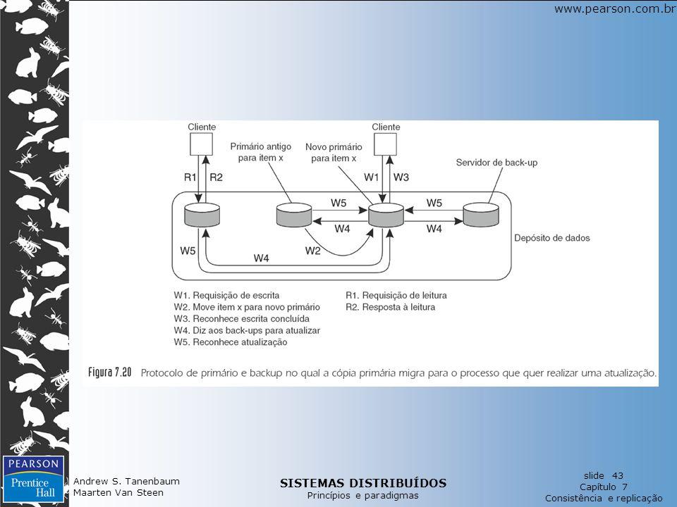 SISTEMAS DISTRIBUÍDOS Princípios e paradigmas slide 43 Capítulo 7 Consistência e replicação www.pearson.com.br Andrew S.
