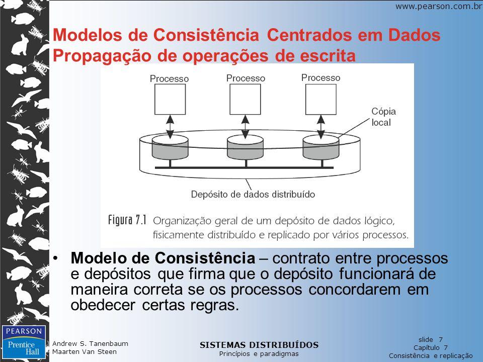 SISTEMAS DISTRIBUÍDOS Princípios e paradigmas slide 7 Capítulo 7 Consistência e replicação www.pearson.com.br Andrew S. Tanenbaum Maarten Van Steen Mo