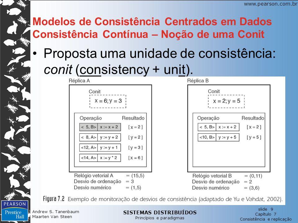 SISTEMAS DISTRIBUÍDOS Princípios e paradigmas slide 9 Capítulo 7 Consistência e replicação www.pearson.com.br Andrew S. Tanenbaum Maarten Van Steen Mo
