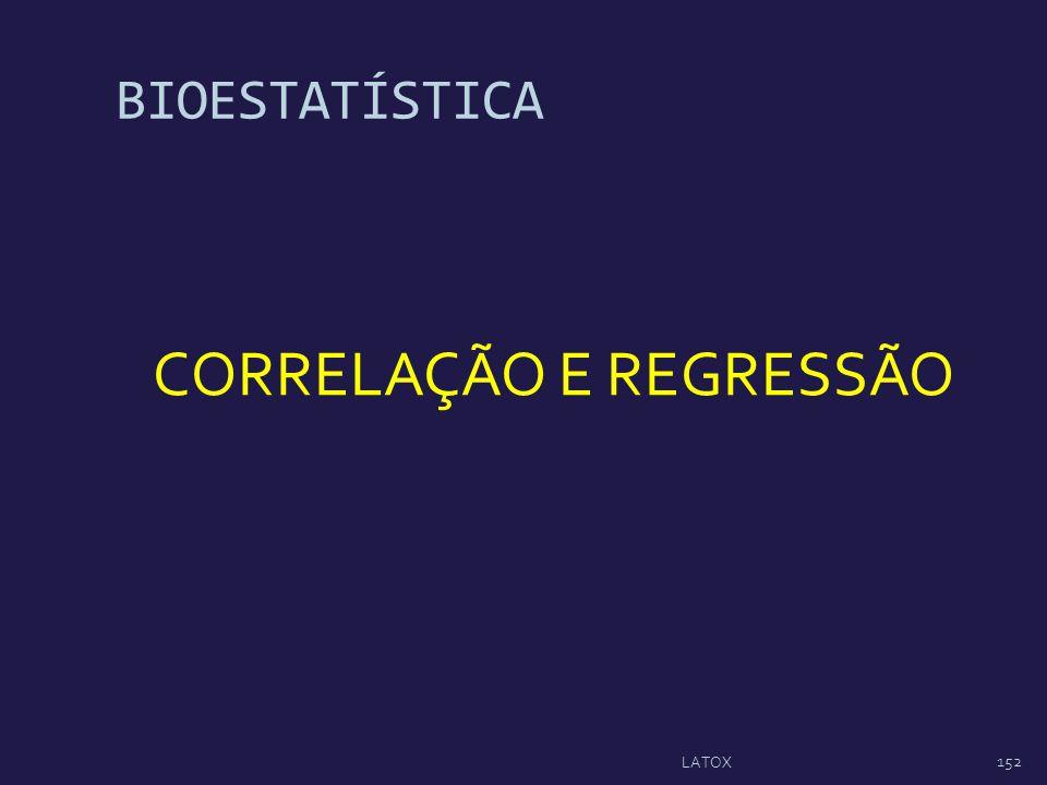 BIOESTATÍSTICA CORRELAÇÃO E REGRESSÃO 152 LATOX
