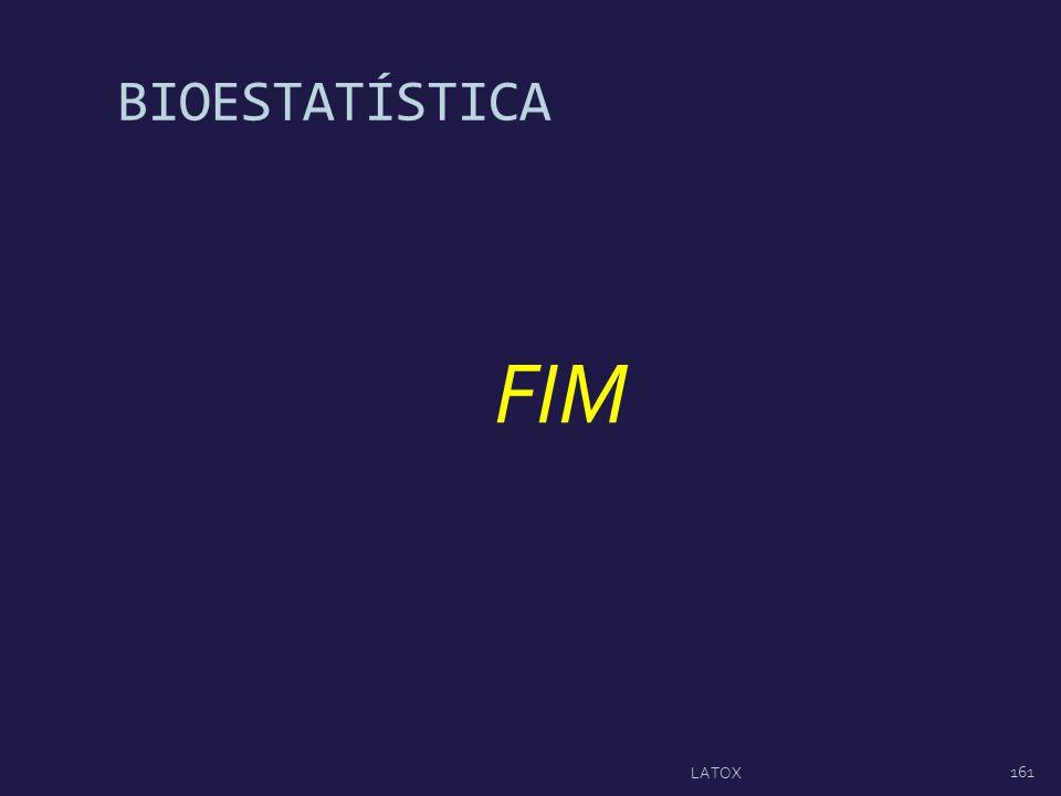 BIOESTATÍSTICA FIM 161 LATOX