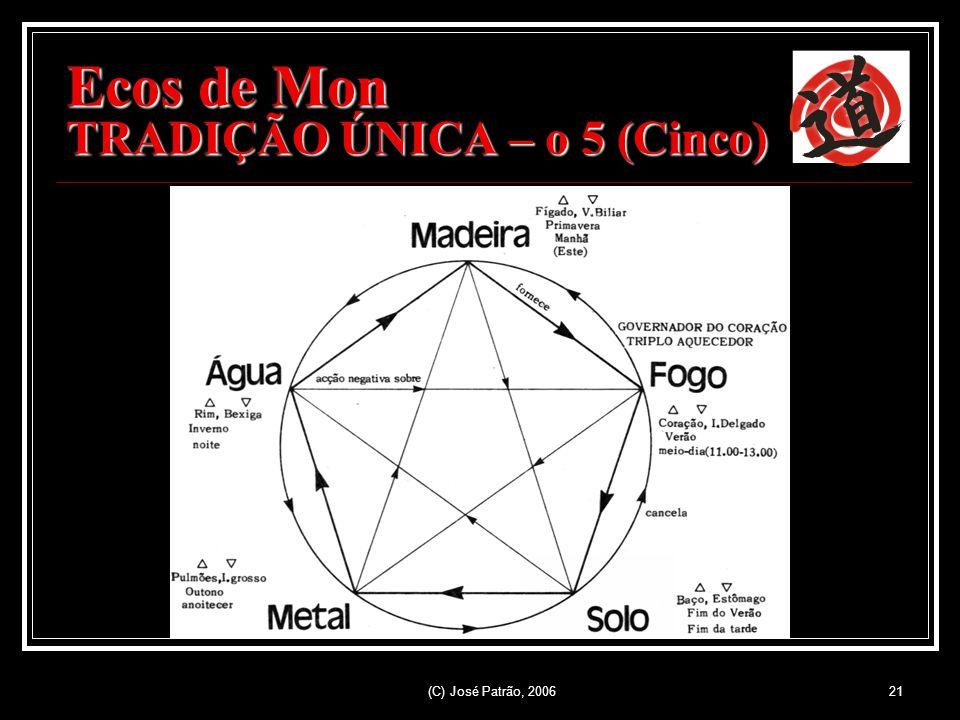 (C) José Patrão, 200621 Ecos de Mon TRADIÇÃO ÚNICA – o 5 (Cinco)