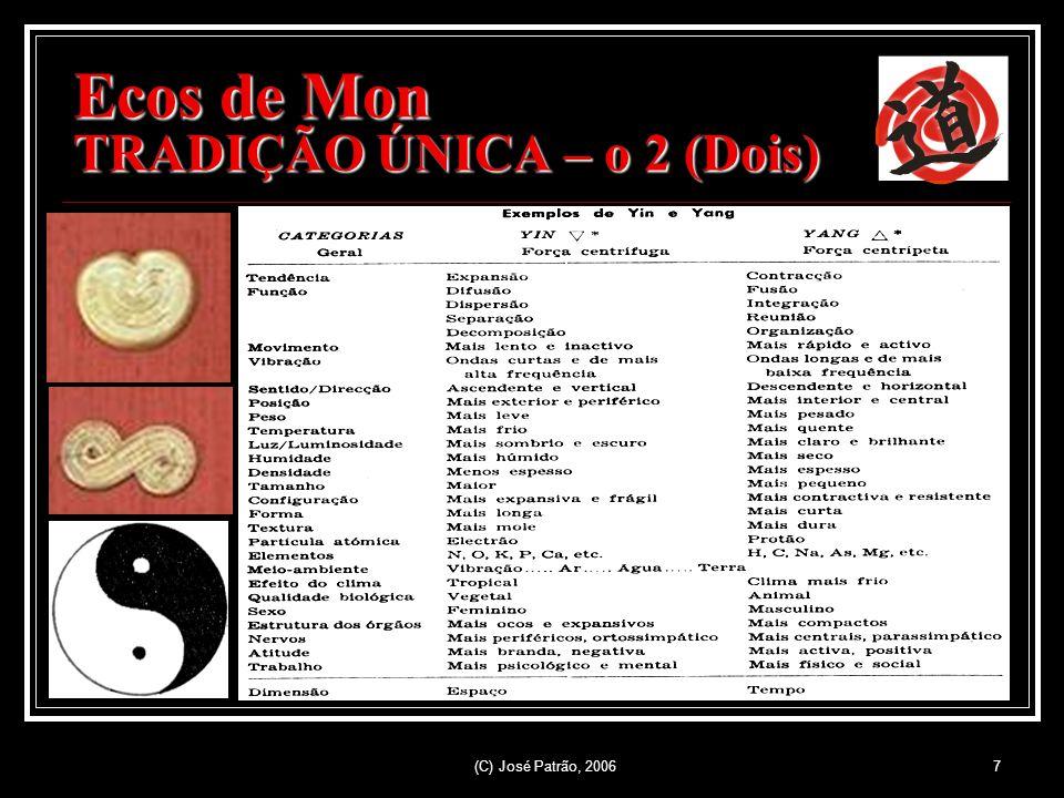 (C) José Patrão, 20067 Ecos de Mon TRADIÇÃO ÚNICA – o 2 (Dois)