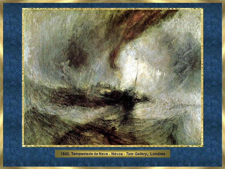 A partir de meados de 1835 o seu interesse pelo Sol e pela representação dos efeitos de luz torna-se quase obsessivo. Turner foi a encarnação da paixã